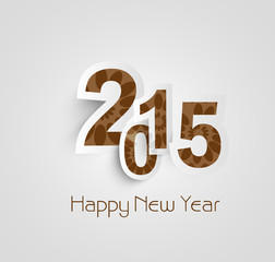 Beautiful text happy new year 2015 beautiful vector design