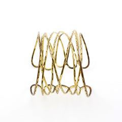 antique gold bracelet on white background