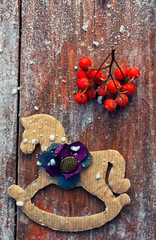 figurine decoration toys Christmas horse