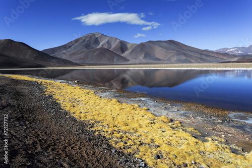 Black lagoon (Laguna Negra), volcano Pissis, Catamarca, Argentin - 72127732
