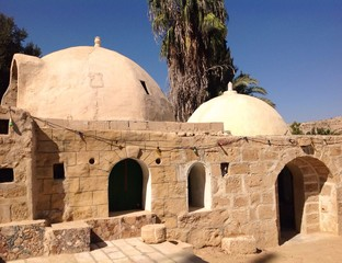 traditional arabic houses in Nagev desert