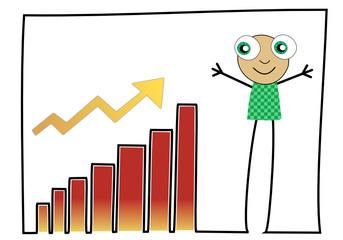 Barres graphiques en hausse