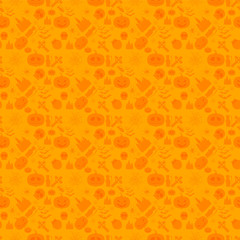 Vector illustration of seamless patterns for a happy Halloween