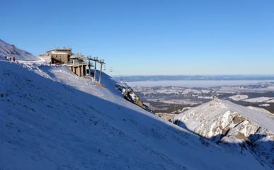 Winter scenery , Kasprowy Wierch is  mountain in Tatras