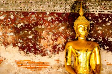 Golden buddha at Wat Suthat Thepwararam, Bangkok, Thailand