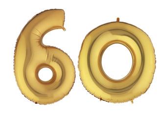 Gold Balloon Sixty
