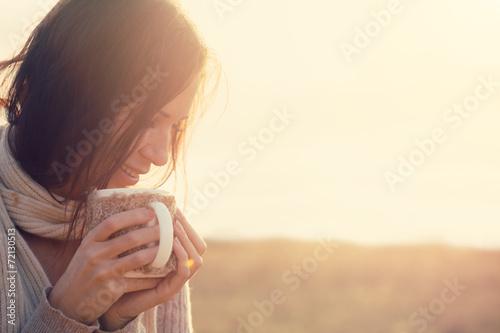 Drinking tea poster