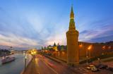 Fototapeta Night view of Kremlin in Moscow, Russia