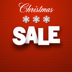 Paper christmas sale sign.