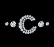 Diamond vector alphabetic letter 'C' - 72132398