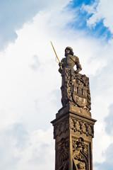 Statue of Knight Brunswick in Prague
