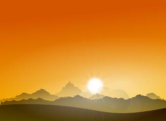 Landschaft Berge Sonne