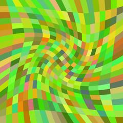 Swirling yellow-green rectangles. Raster.