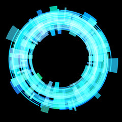 Abstract blue circle. Raster.