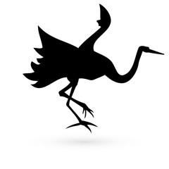 Icon herons. Raster