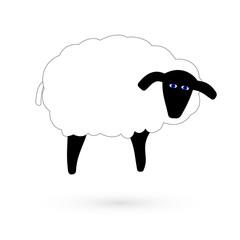 Icon sheep. Raster.