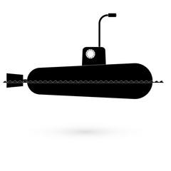 Icon submarine. Raster.