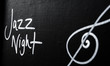 Jazz Night advertisement sign on blackboard - 72133593