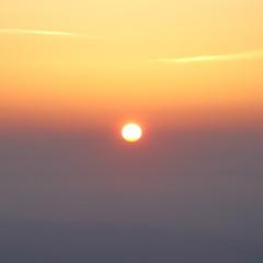 Sunrise sky above cloud in summer morning