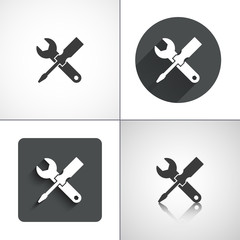Service icons. Set elements for design. Vector illustration.