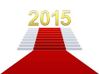 2015 Nouvelle année avec tapis rouge