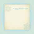 vintage notiz happy hanukkah