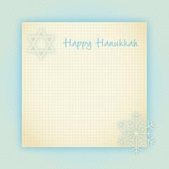 vintage notiz happy hanukkah