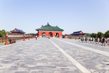 Beijing.  Vermilion Steps Bridge. Temple of Heaven ( Tiantan)