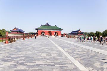 Beijing.  Vermilion Steps Bridge. Temple of Heaven ( Tiantan)