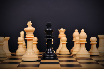 chess king surrounded