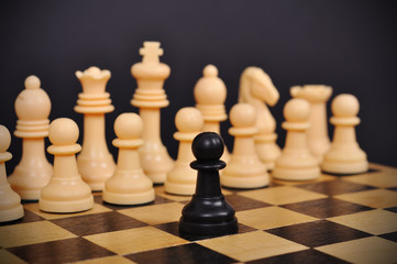 Black chess pawn