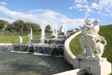 Fountain in the belvedere park