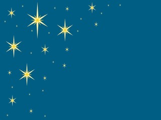 Blue background with stars
