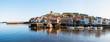 Leinwandbild Motiv Scenic view of Whitby city and abbey in North Yorkshire, UK