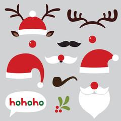 Christmas photo booth and scrapbooking set (Santa and deer)