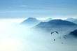 Leinwandbild Motiv mountain yumping