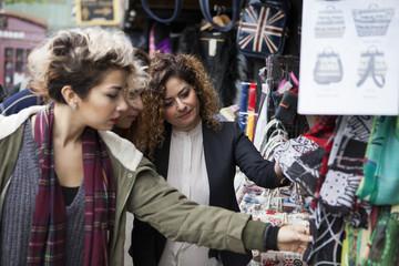 Family of women shopping