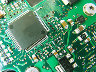 Abstract motherboard card background. New technologies