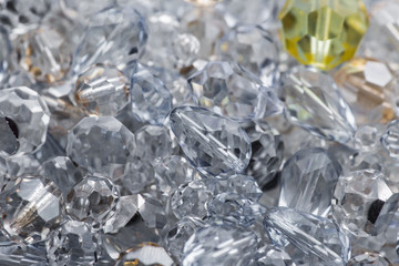 Close-up of cutted glass