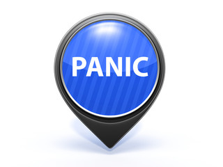 panic pointer icon on white background