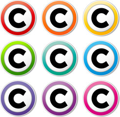 copyright icons