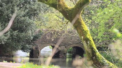 Bridge over river in rural England