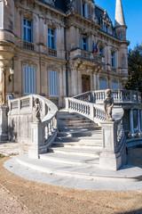 Montée d'escalier château de  Val-Seille