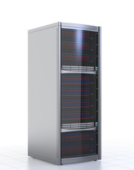 Single blade server isolated on white background