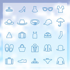 25 clothes icons set