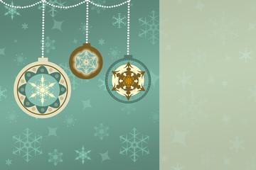 Retro Weihnachten Hintergrund mit Chrisbaumkugeln, Textfeld