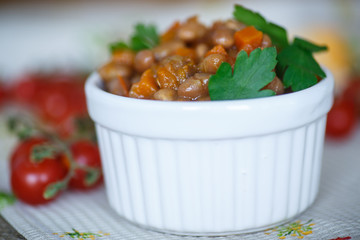 bean stew with vegetables