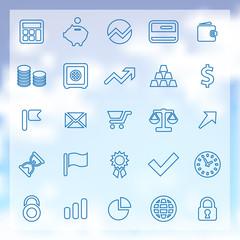 25 finance icons set