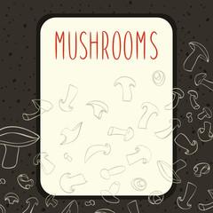 Champignone mushrooms menu design