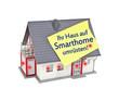 Haus mit Zettel und Smarthome